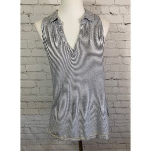 Maeve by Anthropologie B&W Striped Tank Top